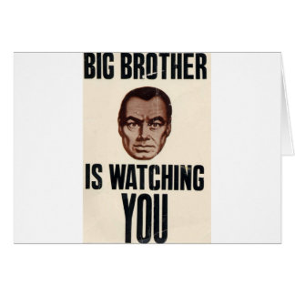 Big Brother Is Watching You Card