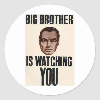 Big Brother Is Watching You Classic Round Sticker