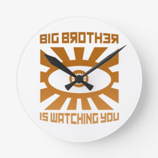 Big Brother Is Watching You Clock