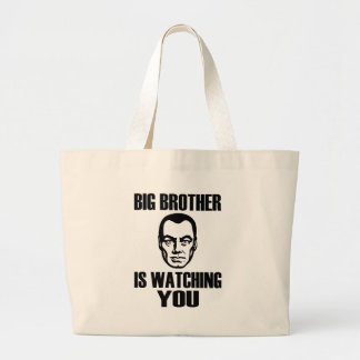Big Brother is Watching You Large Tote Bag