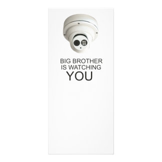 Big brother is watching you rack card