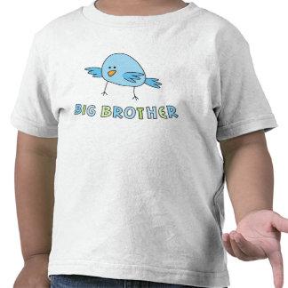 Big brother kids shirt, funny cute cartoon bird