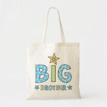 Big brother kids tote bag with stars