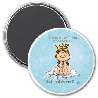 Big Brother - King of Prince 3 Inch Round Magnet