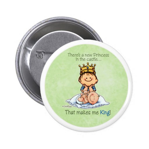 Big Brother - King of Princess 2 Inch Round Button