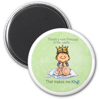 Big Brother - King of Princess 2 Inch Round Magnet