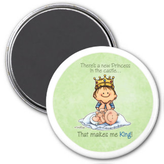 Big Brother - King of Princess 3 Inch Round Magnet
