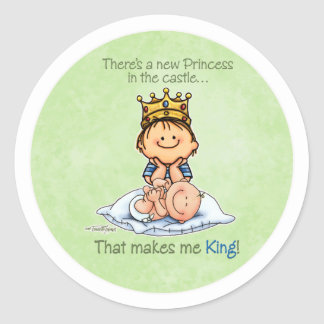 Big Brother - King of Princess Classic Round Sticker