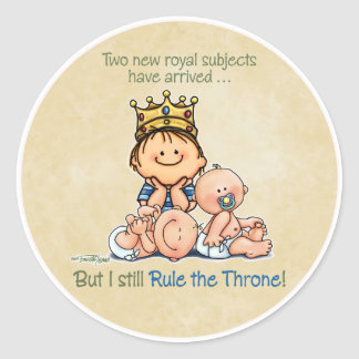 Big Brother - King of Royal Twins Products Classic Round Sticker