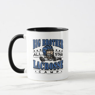 Big Brother Lacrosse Blue Helmet Mug