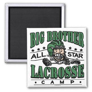 Big Brother Lacrosse Green Helmet Magnet