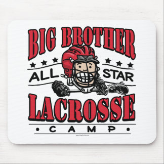 Big Brother Lacrosse Red Helmet Mouse Pads