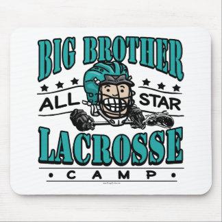 Big Brother Lacrosse Teal Helmet Mouse Pad
