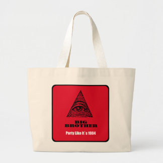 big brother large tote bag