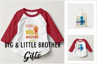 Big Brother Little Brother Sibling Family Gifts