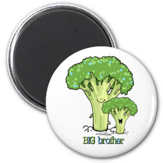 Big Brother - little sibling 2 Inch Round Magnet