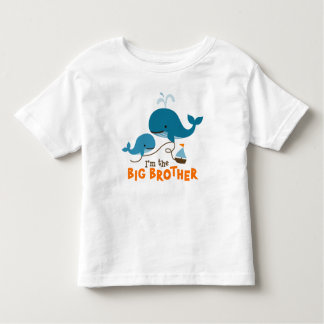 Big Brother - Mod Whale Toddler T-shirt