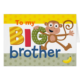 BIG brother monkey Greeting Card