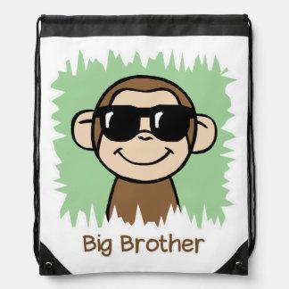 Big Brother Monkey Drawstring Backpack