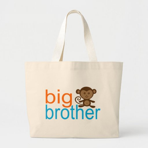 Big Brother Monkey Large Tote Bag