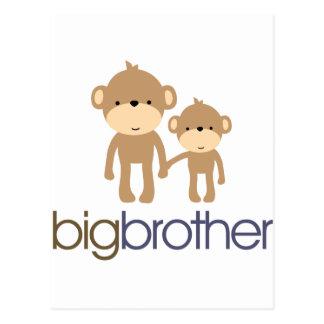 Big Brother Monkey T-shirt Postcard