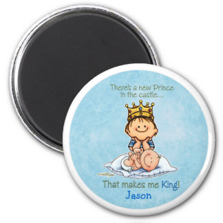 Big Brother of baby brother 2 Inch Round Magnet