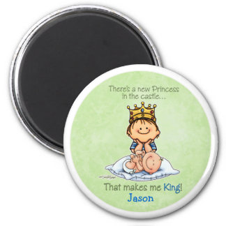 Big Brother of sister 2 Inch Round Magnet