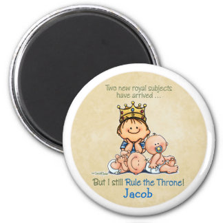 Big Brother of Twins 2 Inch Round Magnet
