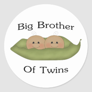 Big Brother Of Twins Classic Round Sticker