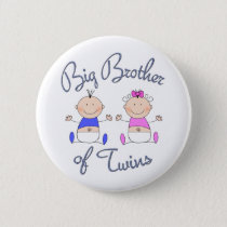 Big Brother of Twins Pinback Button