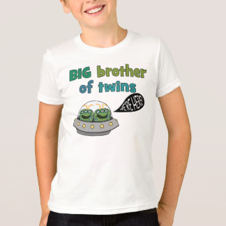 "BIG Brother of Twins ""We're Here!"" T-Shirt"