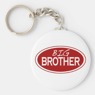 Big Brother (oval) Basic Round Button Keychain