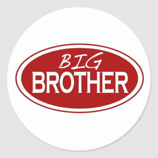 Big Brother (oval) Round Stickers
