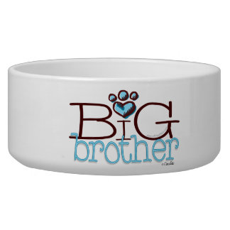Big Brother Paw Print Pet Bowl Dog Food Bowls