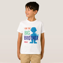 Big Brother Personalized Superhero Silhouette Boys T-Shirt