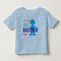 Big Brother Personalized Superhero Silhouette Boys Toddler T-shirt