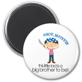 Big Brother Pirate tshirt 2 Inch Round Magnet