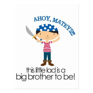Big Brother Pirate tshirt Postcard