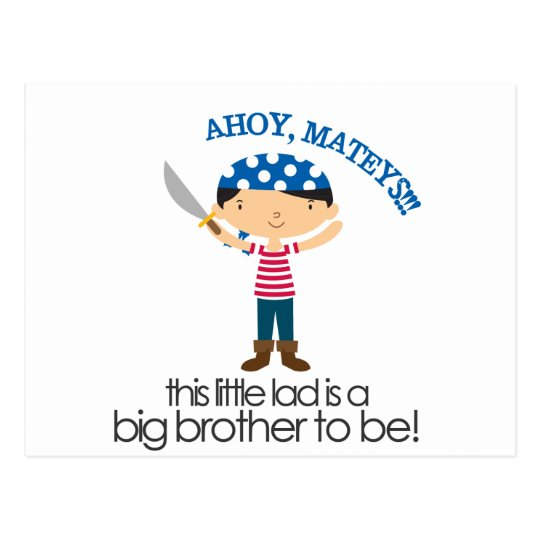 Big Brother Pirate tshirt Postcard