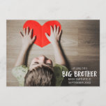 Big Brother Pregnancy Announcement Photo Card