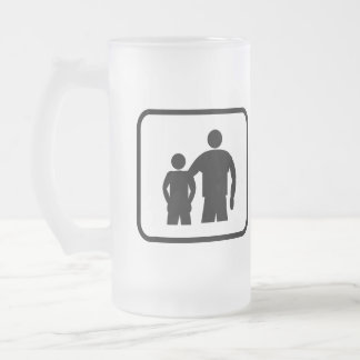 Big Brother Pro (with younger brother) Frosted Glass Beer Mug