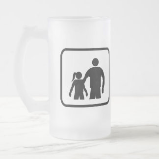 Big Brother Pro (with younger sister) Frosted Glass Beer Mug