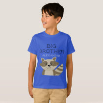 Big Brother Raccoon Animal Boys Sibling Boys T-Shirt