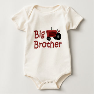 Big Brother Red Tractor Baby Bodysuit