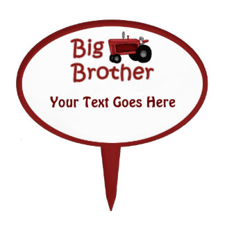 Big Brother Red Tractor Cake Topper