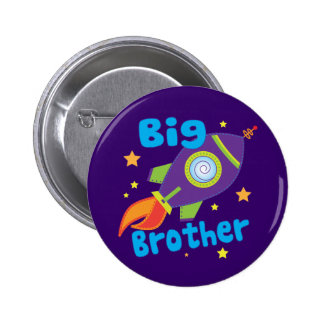 Big Brother Rocket Ship Sibling Sets 2 Inch Round Button