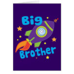 Big Brother Rocket Ship Sibling Sets Greeting Card