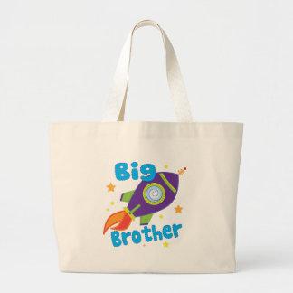 Big Brother Rocket Ship Sibling Sets Large Tote Bag