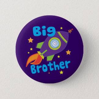 Big Brother Rocket Ship Sibling Sets Pinback Button
