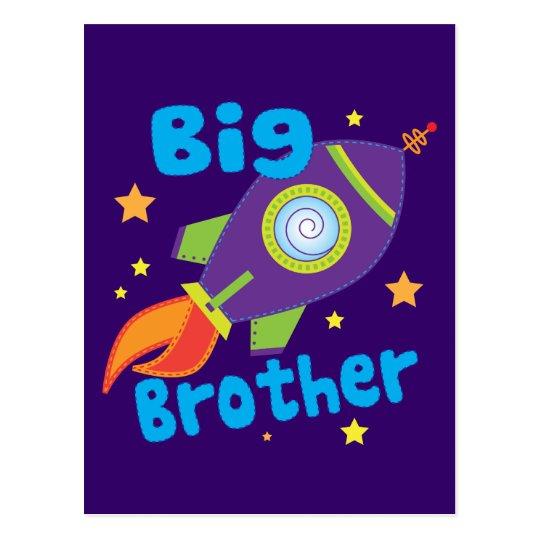 Big Brother Rocket Ship Sibling Sets Postcard